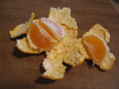 Peeled Satsuma